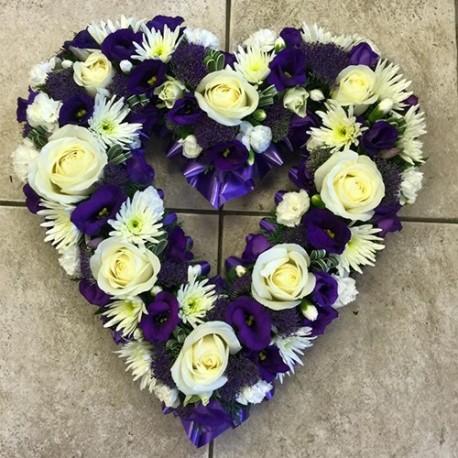 Purple & White Loose Heart