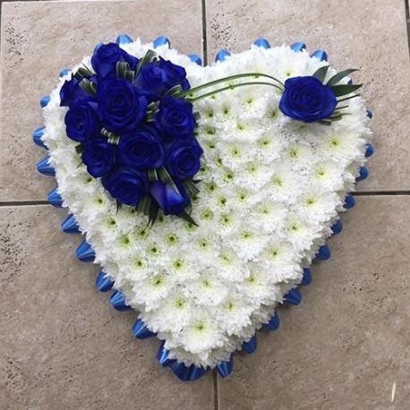 Blue & White Based Heart