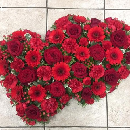 Red Loose Double Heart
