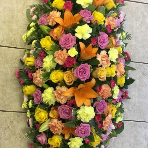 Pink, Orange & Yellow Coffin Spray